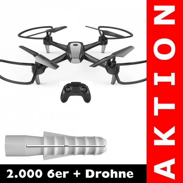 2.000 6er + 2.4G Drohne