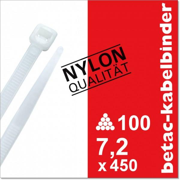 betac-kabelbinder natur 7,2x450