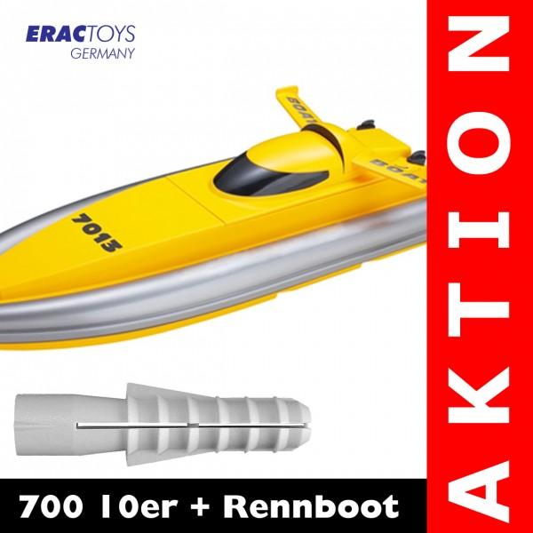 700 10er + R/C Rennboot