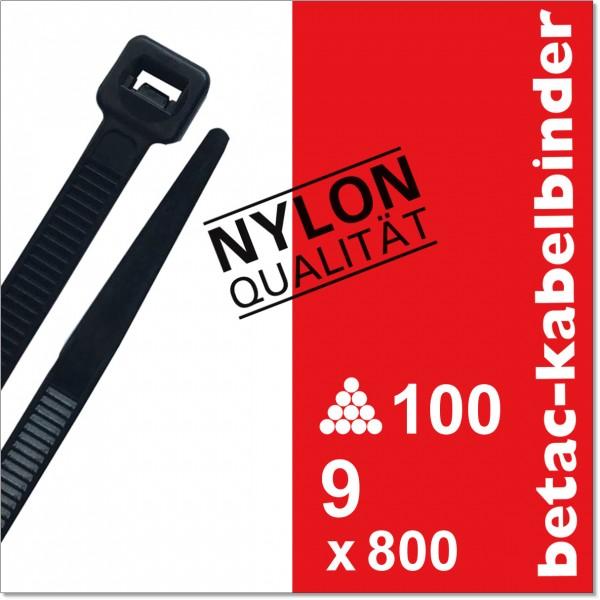 betac-kabelbinder schwarz 9x800