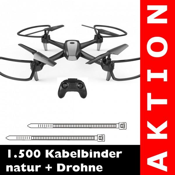 1.500 Kabelbinder natur + 2.4G Drohne