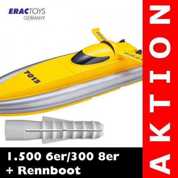 1.500 6er / 300 8er + R/C Rennboot