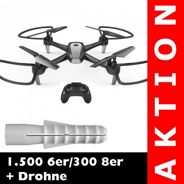 1.500 6er / 300 8er + 2.4G Drohne