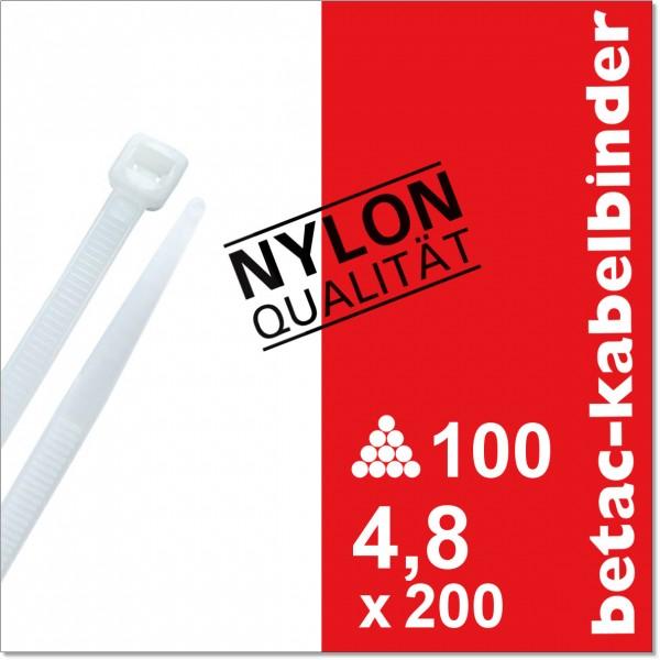 betac-kabelbinder natur 4,8x200